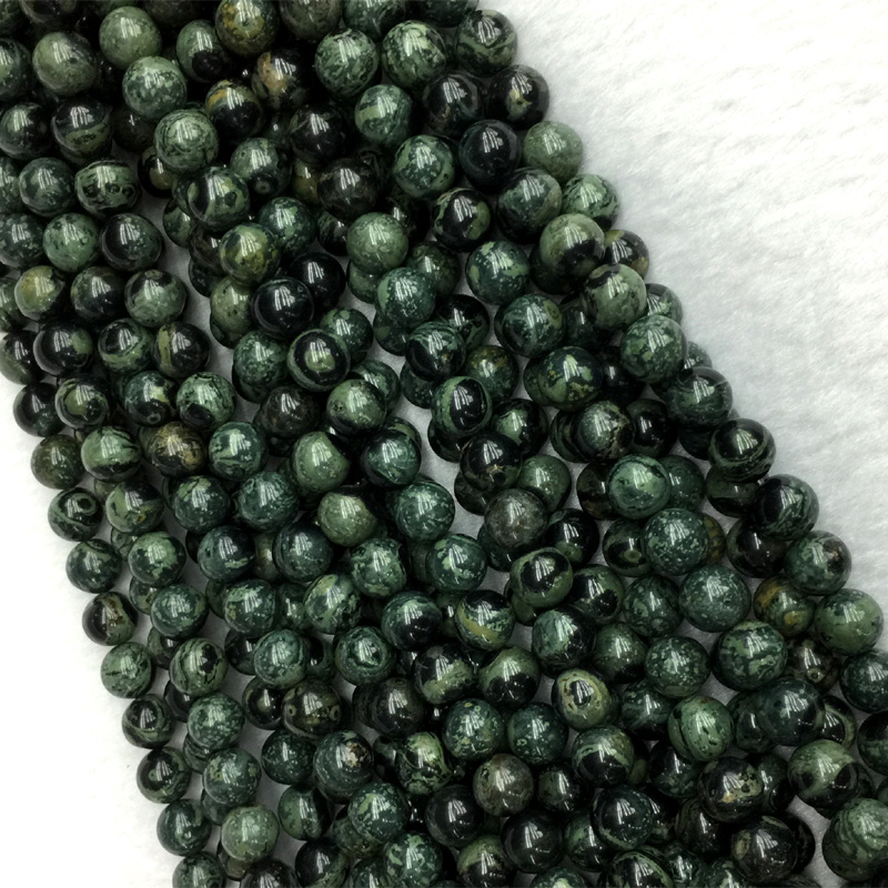 Natural Genuine Dark Green Kambaba Jasper Round Jewellery Loose Small Ball Beads 6mm 8mm 10mm 12mm 15 05455Natural Genuine Dark Green Kambaba Jasper Round Jewellery Loose Small Ball Beads 6mm 8mm 10mm 12mm 15 05455