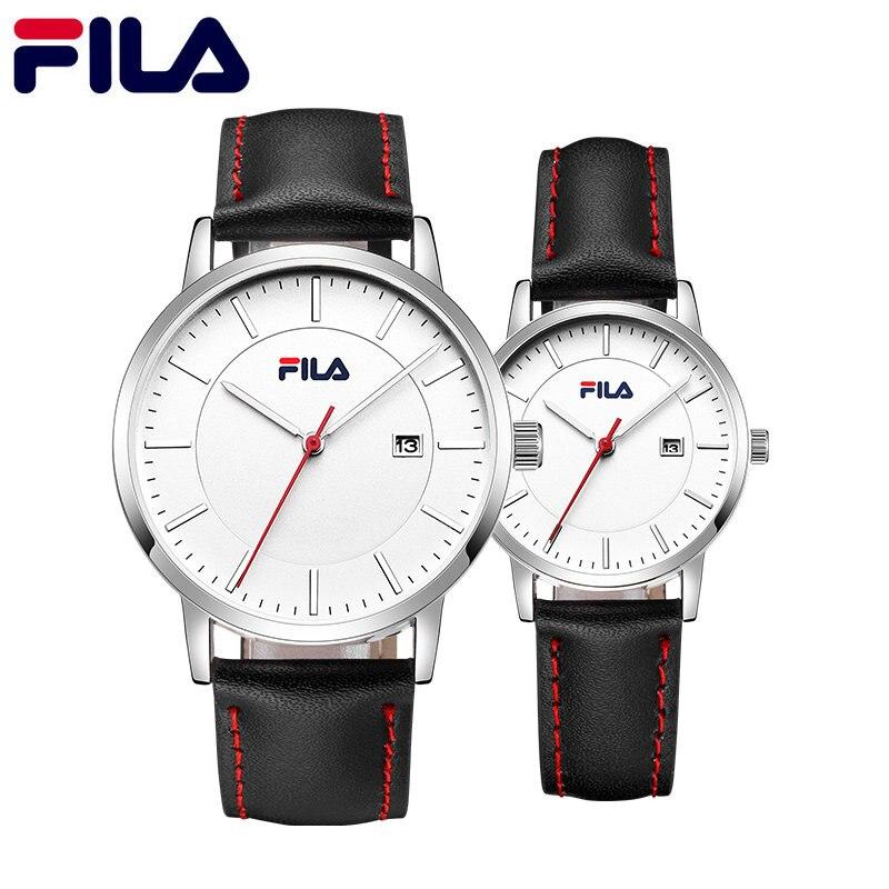 ca83ba16975 Fila Men Watch Women Watch Quartz Wristwatch High Quality Luxury Top Italy  Brand Fashion Casual Auto Date Leather Strap 793 794