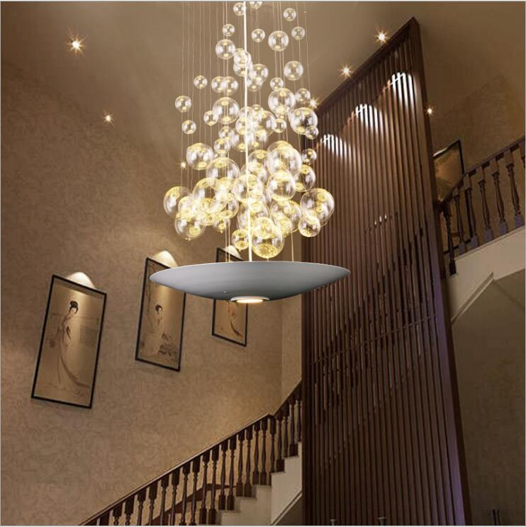 Moderne Glazen Bal Hanglamp Verlichting Rechthoek Eetkamer Lustre Licht Gratis Verzending A80