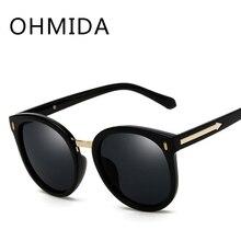 OHMIDA Mirror Sunglasses Women's 2018 Arrow Round Brand Sunglasses Pink UV400 Vintage New Fashion