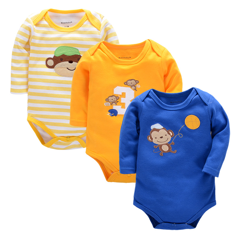 3PCS Baby Rompers Boys Girls Costume Girl 0-9 Months Clothes Bebes Kid Newborn Jumpsuit Baby Clothing Romper Wear Baby Body Bebe newborn baby rompers baby clothing 100% cotton infant jumpsuit ropa bebe long sleeve girl boys rompers costumes baby romper