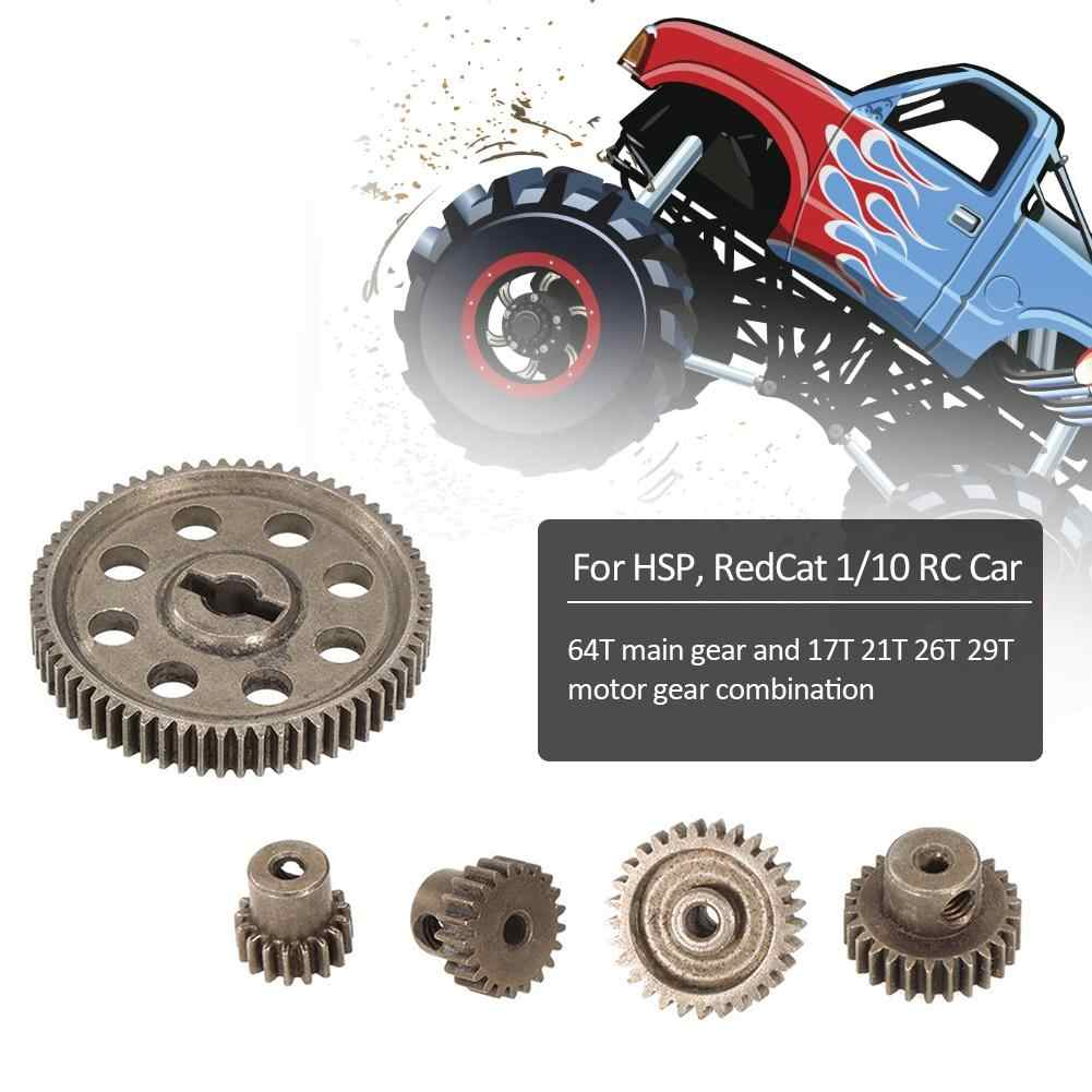 Differential Mechanism Main Metal Spur Gear 64T 17T 21T 26T 29T Motor Gear RC Part For HSP 1/10 Monster Truck BRONTOSAURUS 94111