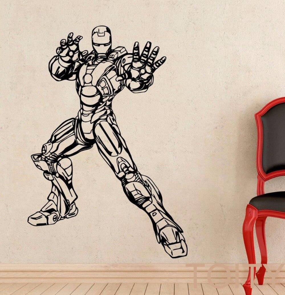 Iron Man Autocollant DC Marvel Comics Affiche Du Film Wall Art Super Héros  Vinyle Decal