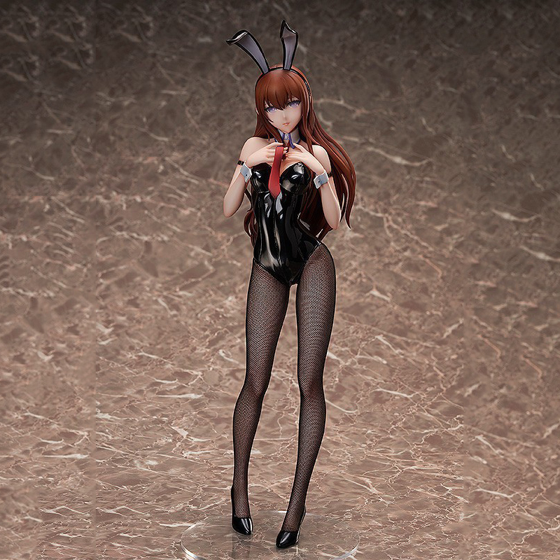 Steins;Gate Makise Kurisu model anime action toys figures 1/4 <font><b>scale</b></font> Bunny girl <font><b>sexy</b></font> painted figure dolls gift image