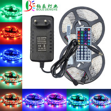 5 м 10 м 12 V светодиодный полосы света SMD 2835 Водонепроницаемый цветная(RGB) Светодиодная лента Гибкая разноцветные стринги веревка+ светодиодный контроллер+ Мощность адаптер