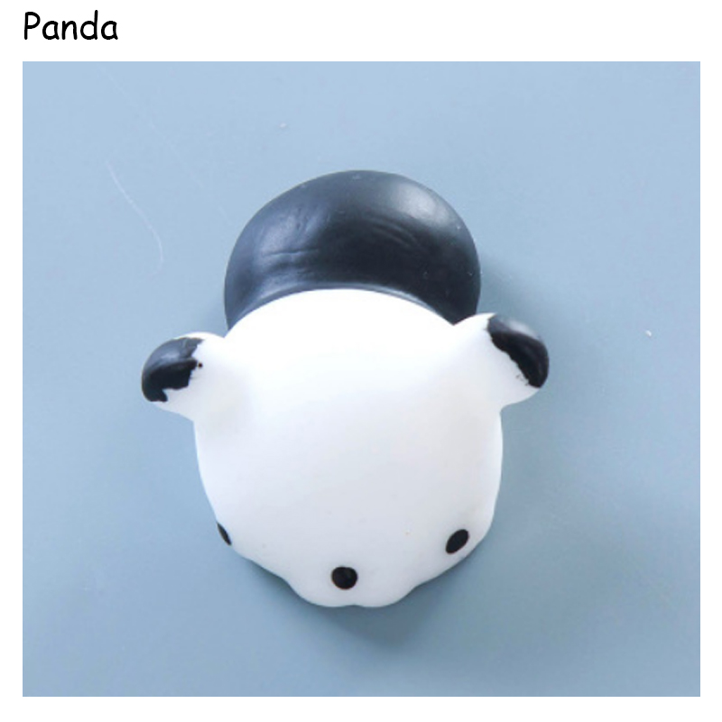 Single Sale Panda Soft Silicone Squeeze Toys Cute Animal Anti Stress Relief Toy Funny Squishy Dolls Adults Kids Play Toys