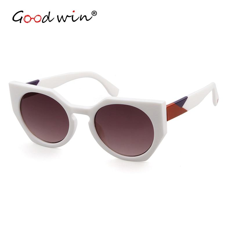 GOOD WIN 2018 Luxury Brand Designer FF Facets Sunglasses Women Vintage Tortoise Spotted Havana Sun glasses Gafas feminino mujer