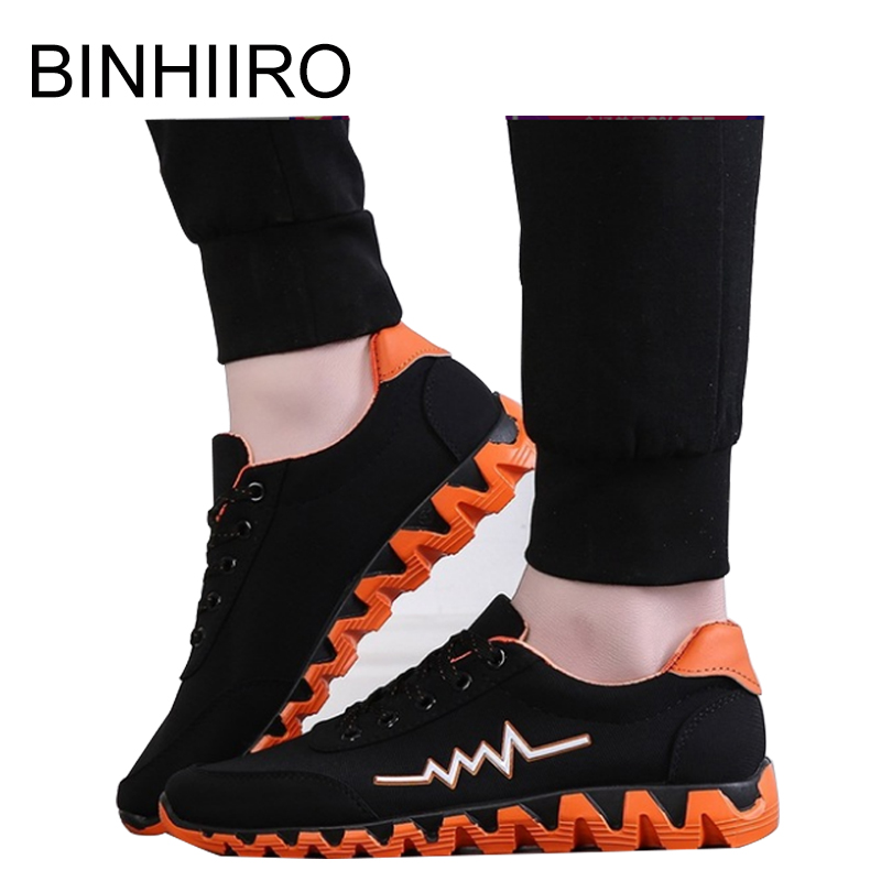 BINHIIRO Men Casual Shoes Mesh Lace up Black Comfortable Breathable Non leather Casual Lightweight Outdoor Shoes Sneakers Spring in Men 39 s Vulcanize Shoes from Shoes