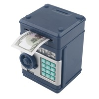 HOT 7 farben Kinder Elektronische Geld Safe Passwort Sparkasse ATM für Münzen und Rechnungen Code Schlüssel Fall system Geld Sparen box