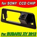 Cor CCD retrovisor volta inversa cam câmera do carro para Subaru XV 2012 PAL NTSC (Opcional) à prova d' água