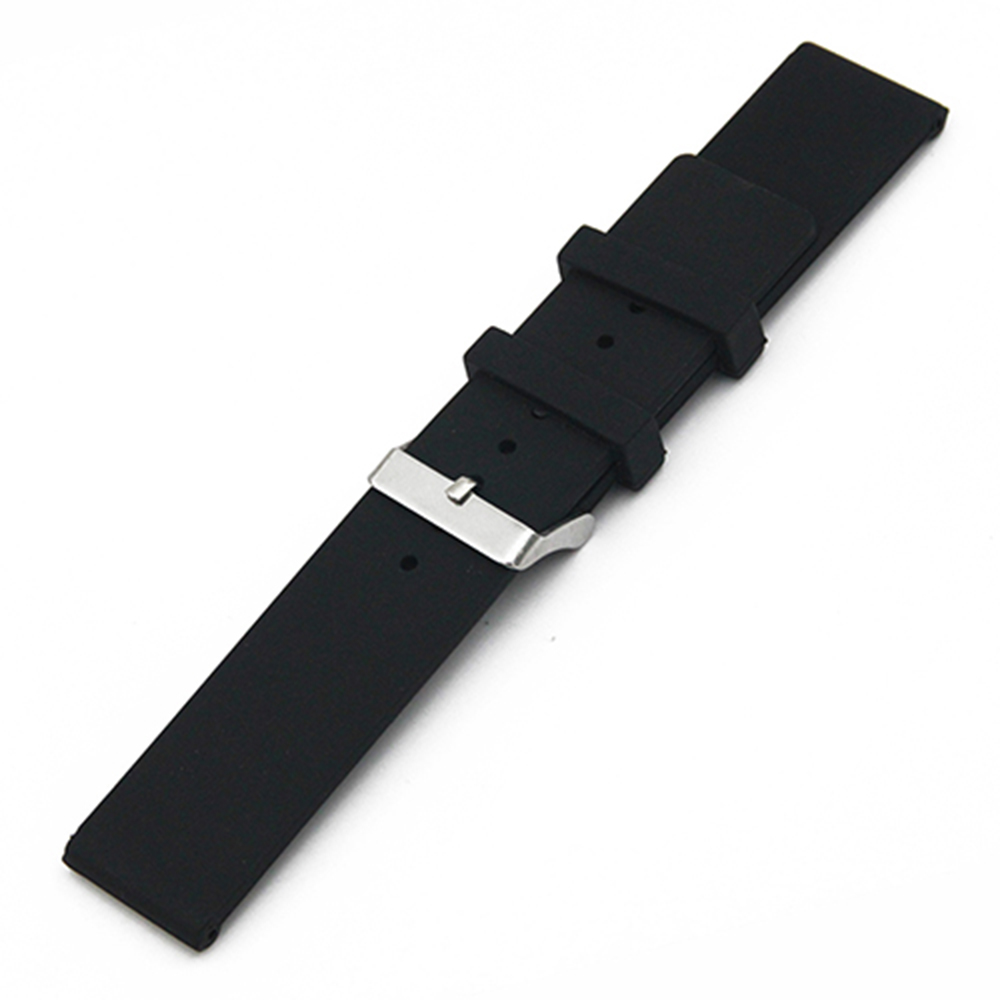 20mm 22mm Silicone Rubber Watch Band for Ticwatch 1 2 42mm 46mm Men Women Strap Wrist Loop Belt Bracelet Black White + Tool