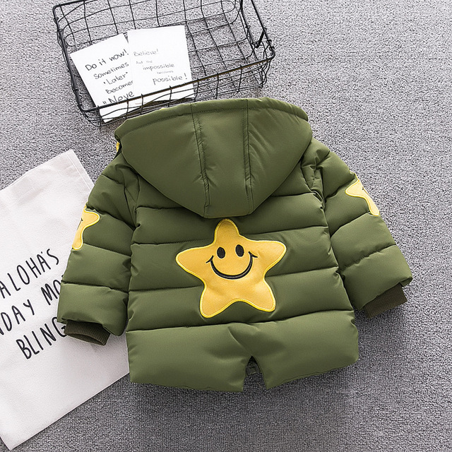 New Baby Boy Coat  Infant Hoodie Thickness Autumn Winter Infant  Jacket  Baby Coat  8BB014