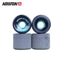 KOSTON Longboard Skateboard Wheels 4PCS 62*51mm 80A Durometer Durable 80% Rebound Cruiser PU Wheels Skate Board Accessories SW01