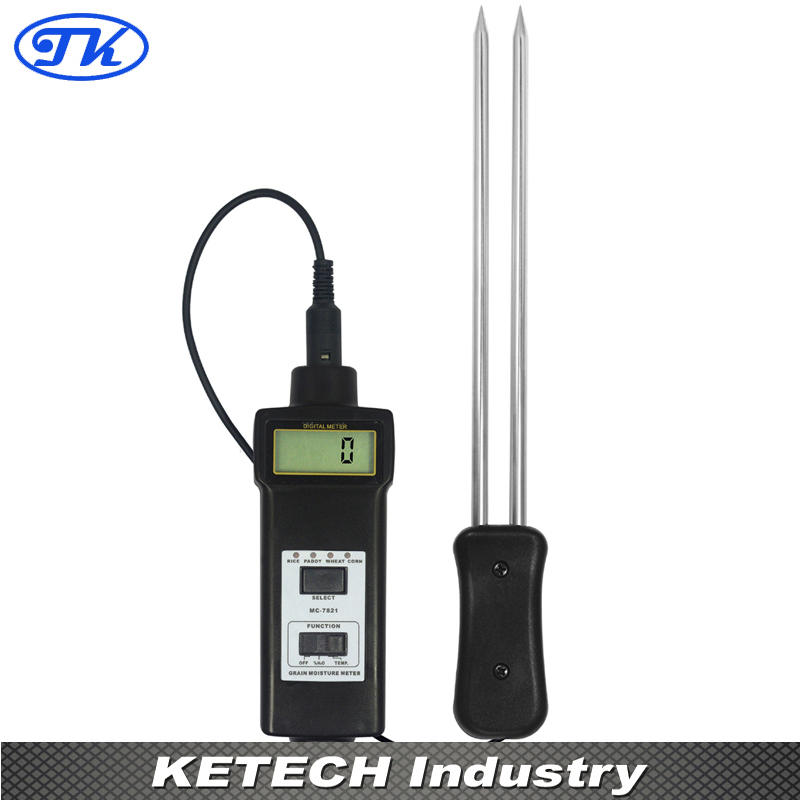 Grain Moisture Meter & Temperature Meter MC-7821 mc 7825g grain moisture meter tester
