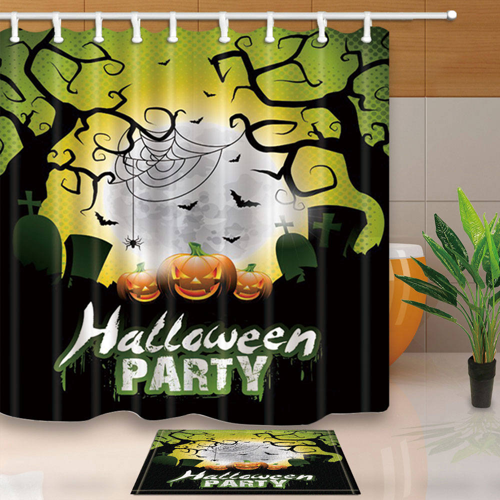 High Quality Shower Curtains Halloween Party Bathroom