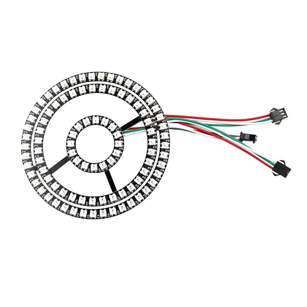WS2812B модуль газа 16 35 45 биты светодио дный s 5050 Rgb Индивидуальный Адресный кольцо Круглый Светодиодная лампа свет доска DC5V белый/черный