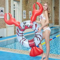 Crayfish Floating Bed Water Mount Animal Floating Row Cartoon Swimming Ring Adult Inflatable Pool Float Ring Kids Pool Toy