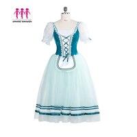 Women Professional Ballet Long tutu Giselle Ballet Tutu Village Girl Ballet Costumes Peasant Girl Ballet Dress Dance Garden