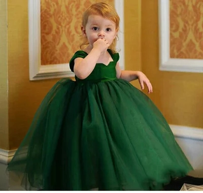 OCEAN-STORE Toddler Baby Kid Girls 12 Months-5T Solid Party Dress Outfit Dresses Clothes Outfits