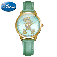 Luxury Mickey Mouse unique ladies bling rhinestone crystal watches Women favorite fashion casual quartz watch Disney 11036 clock