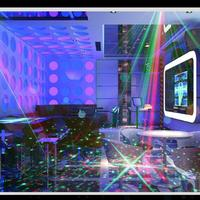 LED Laser Stage Lighting RRG Mini Laser Projector 3W Blue Light Effect Show With Voice Control