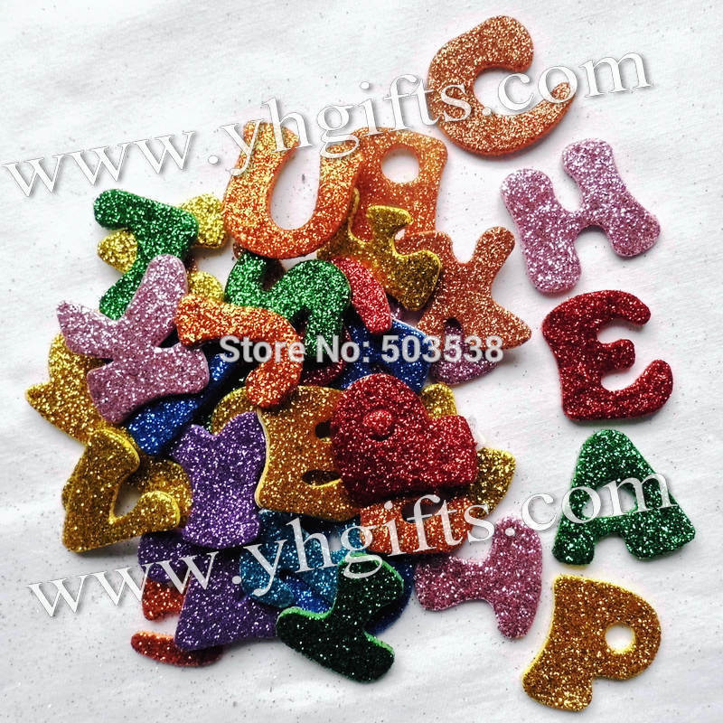 glitter foam a z letters stickersalphabet stickers