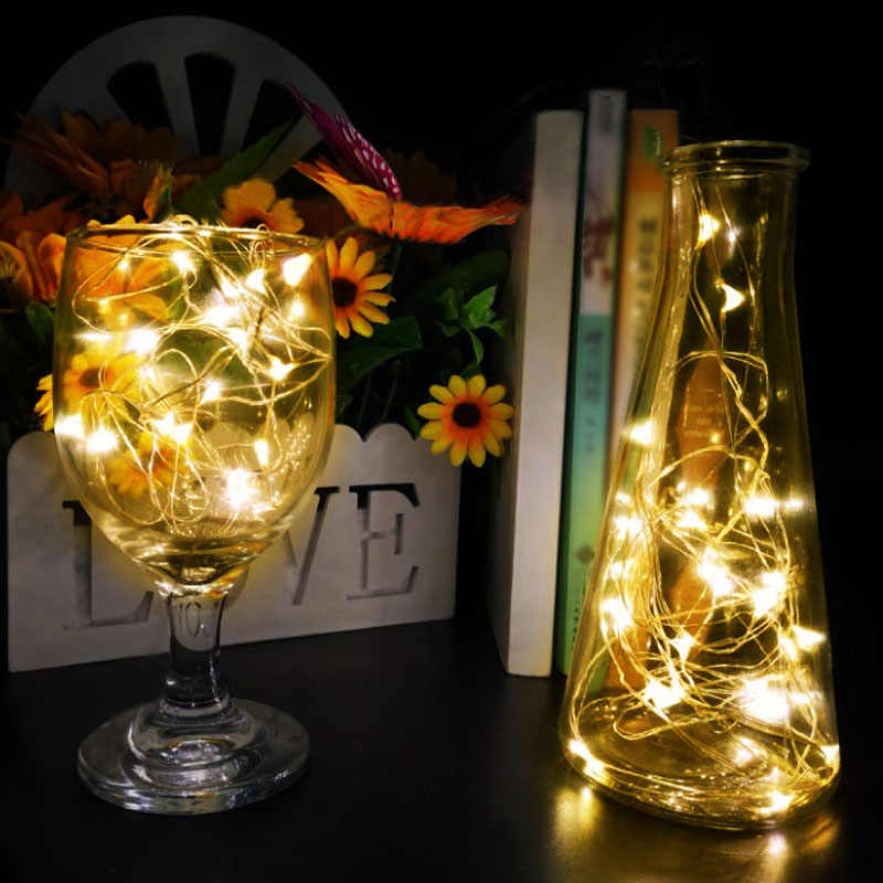 Waterproof Fairy Light CR2032 3AA Battery Powered LED String Light Christmas Light Silver Wire For Wedding Xmas Garland Party