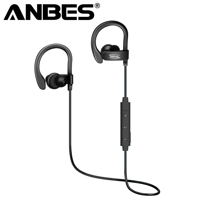 anbes sports bluetooth earphone 4 1 stereo earbuds wireless headset bass earphones with mic in. Black Bedroom Furniture Sets. Home Design Ideas
