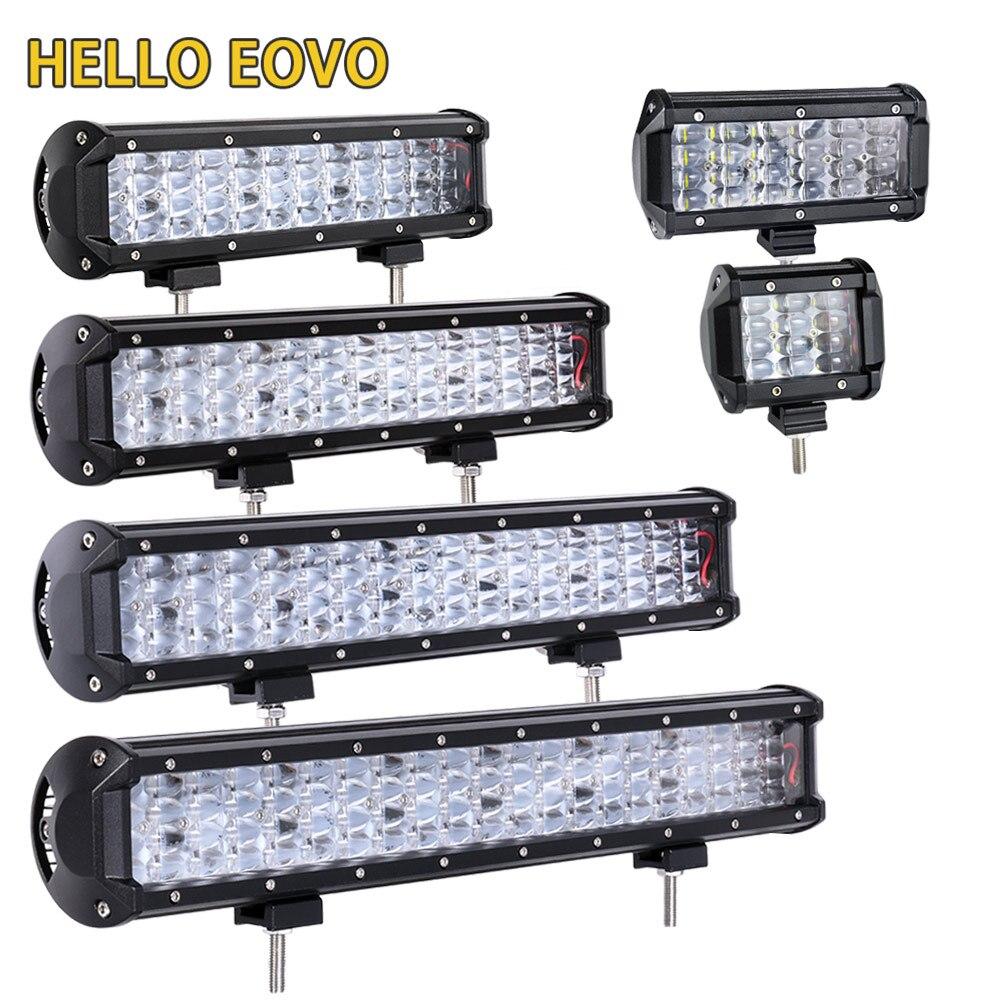 BONJOUR EOVO LED Bar 4/6.5/17/20/22 pouce LED Barre Lumineuse pour Travail Conduite Offroad Bateau De Voiture Tracteur Camion 4x4 SUV ATV