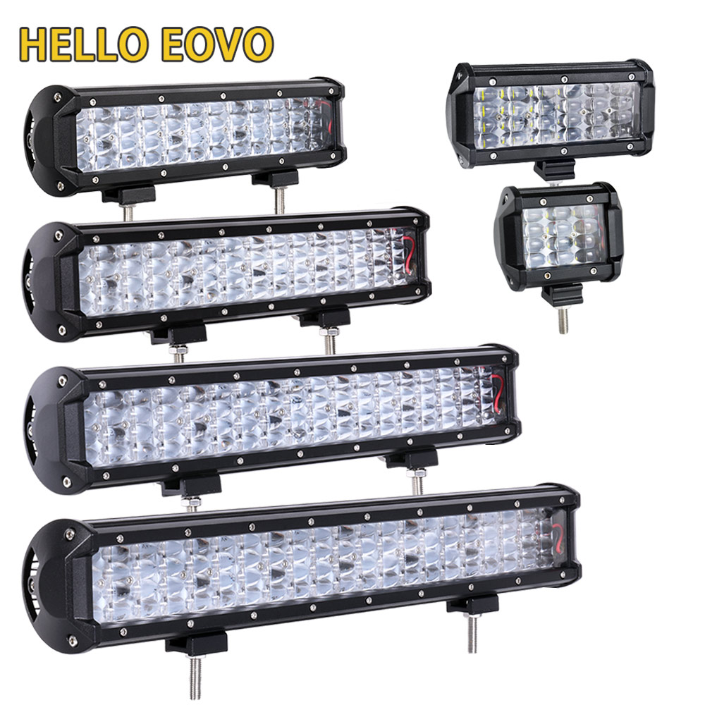 HELLO EOVO LED Bar 4 / 6.5 / 17 / 20 / 22 inch LED Light Bar for Work Driving Offroad Boat Car Tractor Truck 4x4 SUV ATV