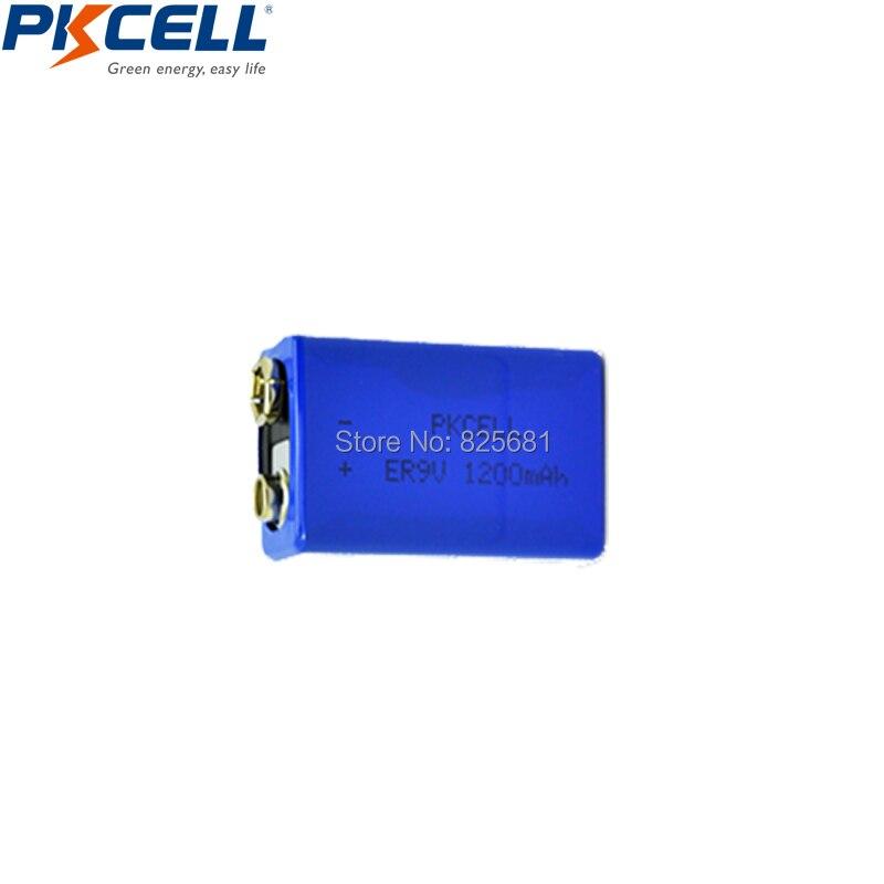 30 шт. PKCELL ER9V 1200 мАч 9 В Li-SOCl2 литиевых батарей Bateria для дыма литий-ионный  ...