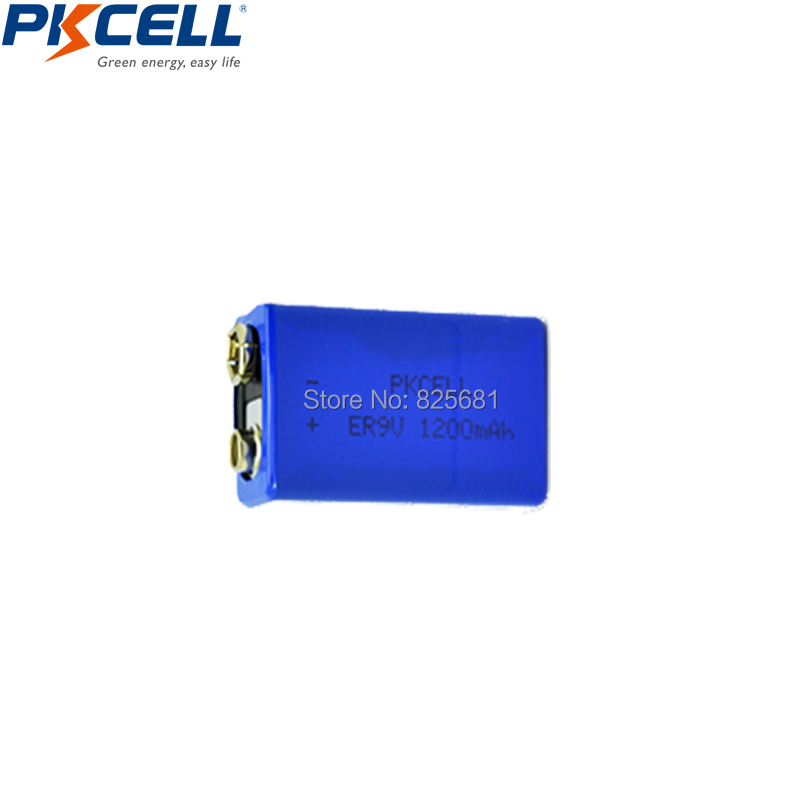 30Pcs PKCELL ER9V 1200mAh 9V Li-SOCl2 Lithium Batteries Bateria For Smoke alarm lithium-ion battery 6LR61 6F22