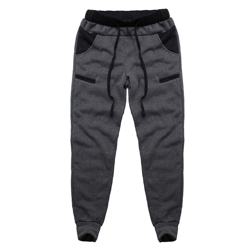 INCERUN 2018 Winter Casual Men Pants Warm Fleece Hip-hop Joggers Trousers Workout Sweatpants Pockets Elastic Waist Harem Pants