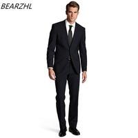 Современная Slim Fit костюм темно синие смокинг жениха для мужчин Жених костюмы Торжественная одежда 2017 Высокая качественная одежда