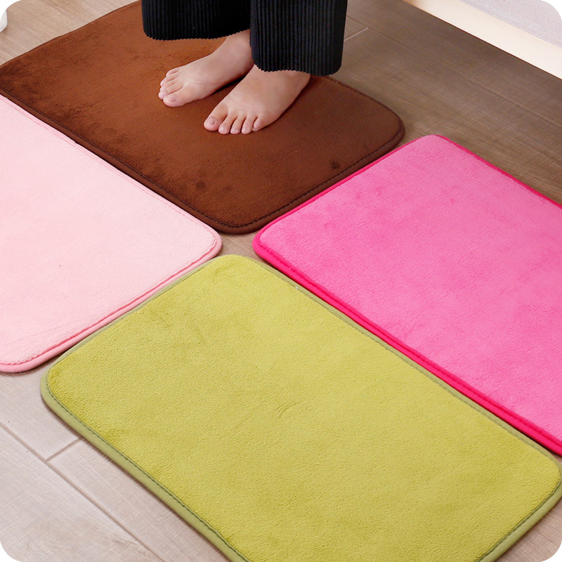 Coral velvet doormat, bathroom bedroom kitchen living room doormat pad absorbent mat antiskid pad,household products
