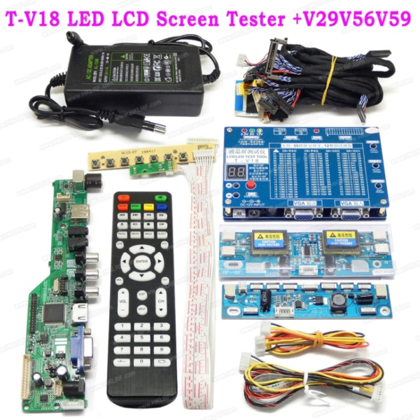 Laptop TV LCD LED Test Tool Panel Tester T V18 14 LVDS Cable T V18 V29V56V59