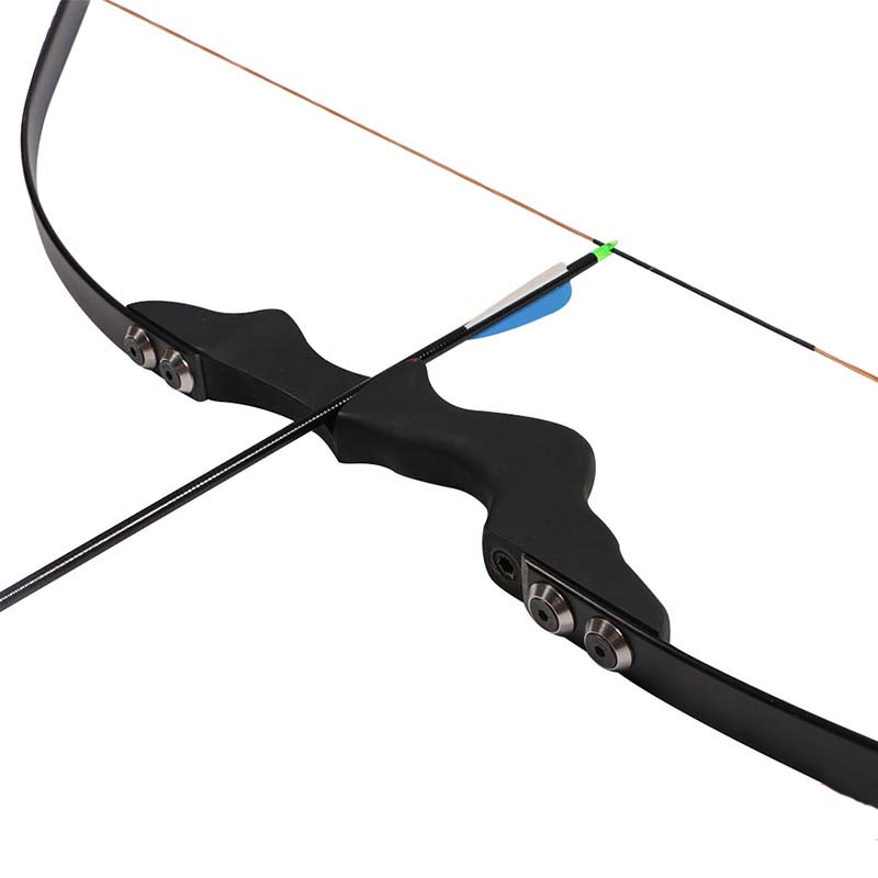 Black Archery Practice Recurve bow CS Game bow for Adult Outdoor Sports Hunting Shooting Games Sling Shot Bow archery black horse skin leather bow traditional recurve hunting bow 20 50lbs outdoor shooting sports bow