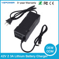 42V 2A 2.5A 3A 3.5A Lithium Battery Charger For 36V 8Ah 10Ah 12Ah 15Ah 20Ah Li-ion Li-poly Electric Scooter E-bike Battery Pack