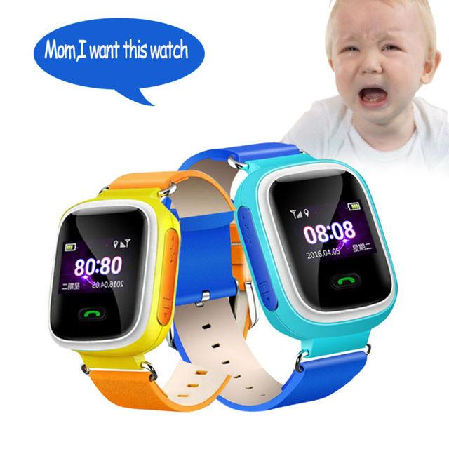 2016 Telefone Do Relógio Inteligente Crianças Kid relógio de Pulso Q60 GSM GPRS GPS Localizador Rastreador Anti-Perdida Smartwatch SOS Chamada Bebê presente