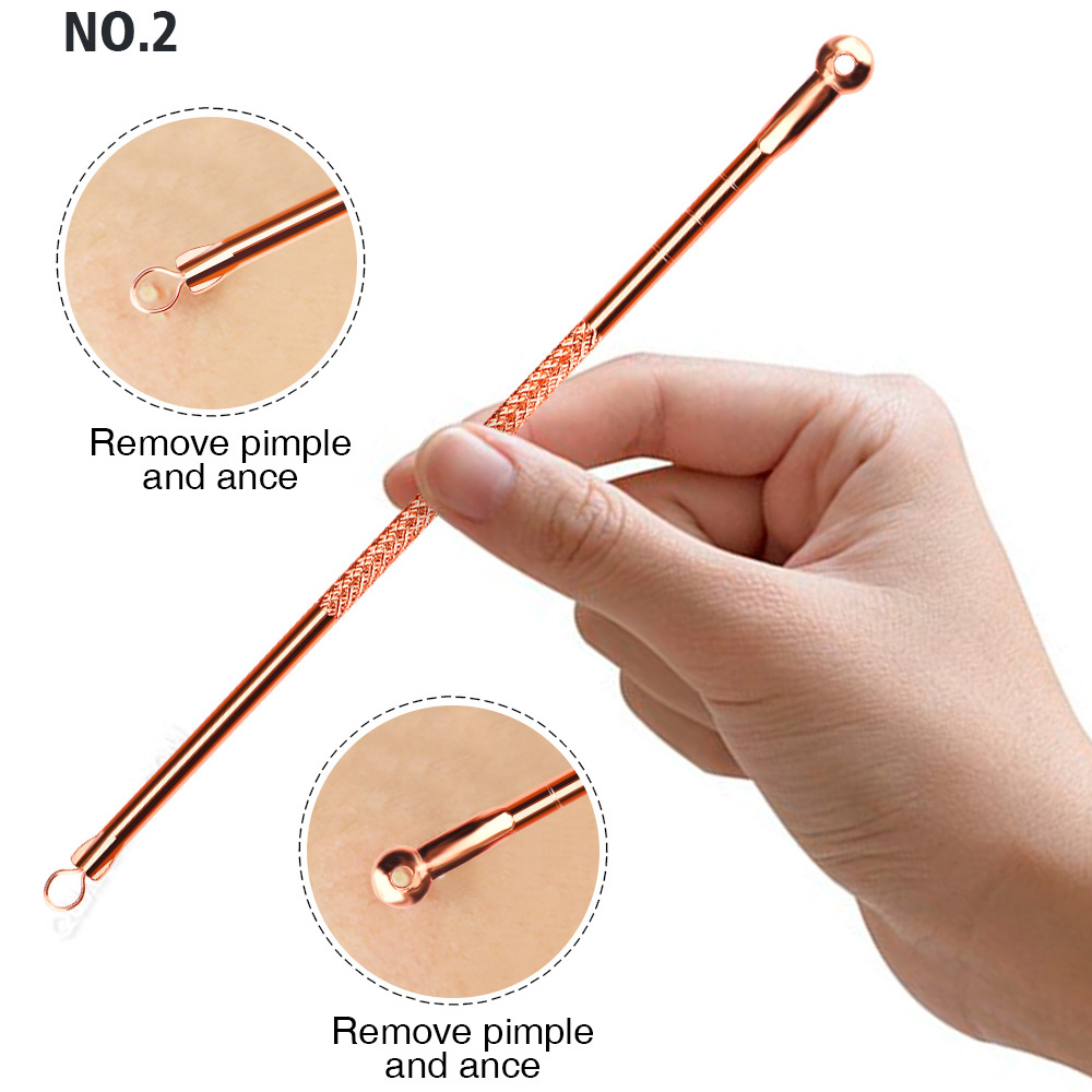 Beauty & Health ... Skin Care Tool ... 32796978341 ... 3 ... 4pcs Anti-Bacterial Double-ended Acne Needle Blackhead Remover Tool Stainless Steel Pimple Needle Facial Cleaning Tool Skin Care ...