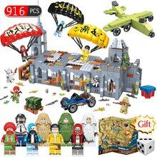 916 шт., блоки для часовни, боев и сражений, WW2, армейские, военные, городские, полицейские, оружие, PUBG, строительные блоки, детские игрушки, подарки