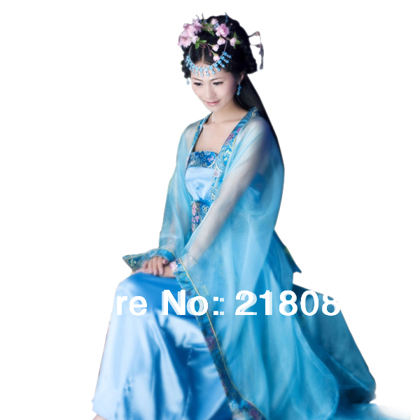 Ancient chinese costume women fairy hanfu dress tang dynasty suit zheng female cosplay costumes with wraps stage clothing set