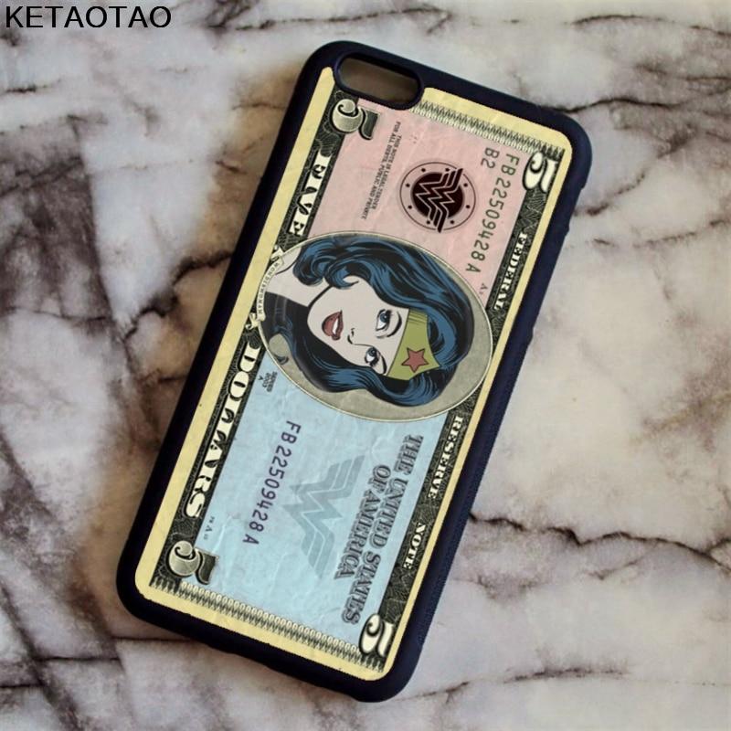 Ketaotao DC Comics Чудо-Женщина Телефонные чехлы для iphone 4S 5S 6 6 S 7 8 Plus X для Samsung S5 6 7 8 Чехол Мягкий ТПУ Резиновая силиконовые