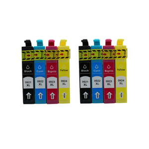 8X Полный картридж для струйной печати Epson T0921N, работает для Epson Stylus CX4300 TX117 T26 27 TX106 TX119 109 C91 принтер t0921 с чипом