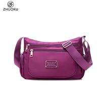 2016 New Women Shoulder Bags Waterproof Nylon Lady Sling Messenger Bag Quality Crossbody Bags For Women