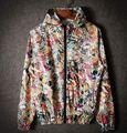 Homens jaqueta Impermeável Reflexivo Respirável design fino Casaco de Vento DF320