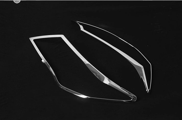 Car Accessories For Toyota RAV4 RAV 4 2013 2014 2015 ABS Chromed Exterior Front Head Light Lamp Headlight Cover Trim Shade 2Pcs