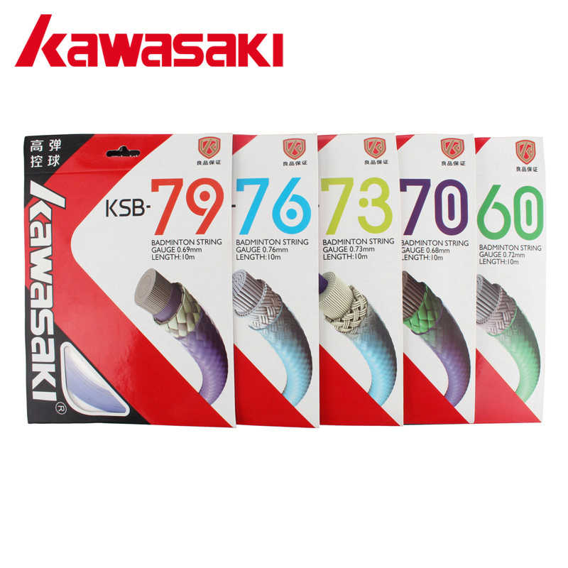 Kawasaki Professional Badminton Racket Strings High Elastic Durable Badminton Line KSB60/70/73/76/79 Get Strung Service