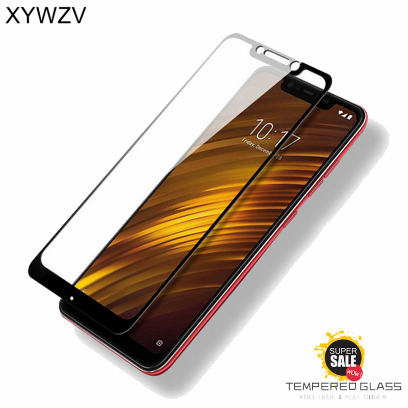 2PCS Full Glue Cover Glass Xiaomi Pocophone F1 Tempered Glass Screen Protector For Xiaomi Pocophone F1 Phone Film Pocophone F1 lt in Phone Screen Protectors from Cellphones amp Telecommunications