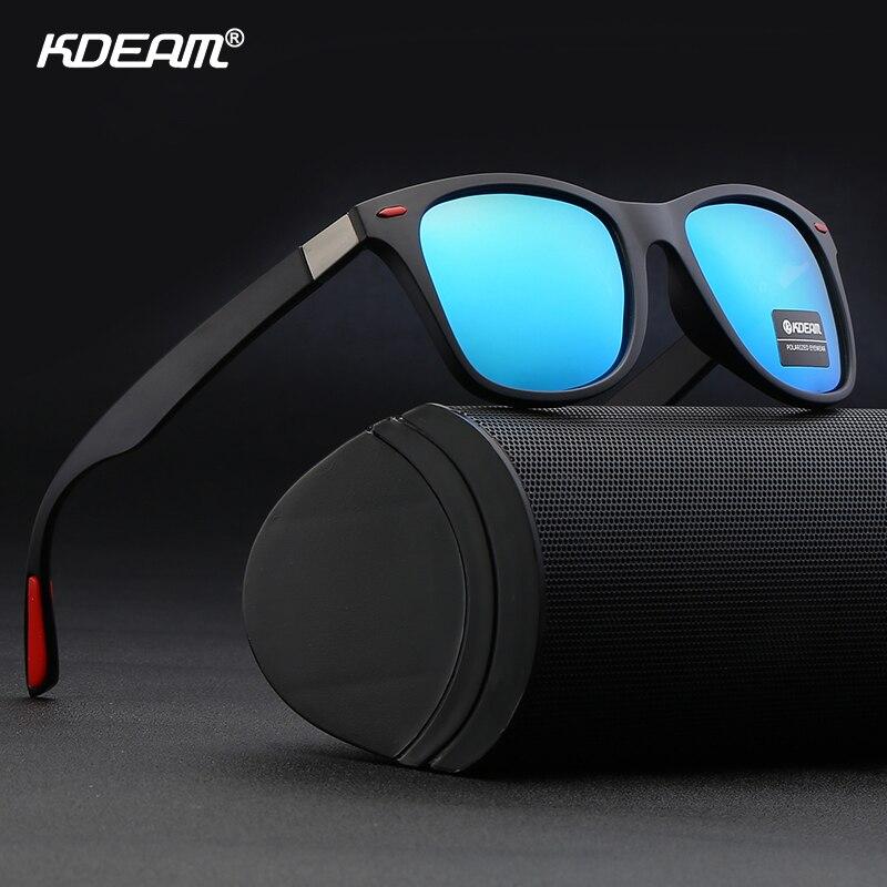 KDEAM Men Polarized Square Sunglasses UV400 Outdoor Driving Fishing Glasses New